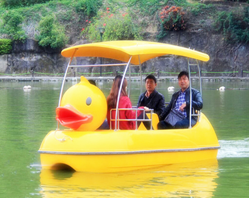 Amusement park rubber duck paddle boats with 4 seat