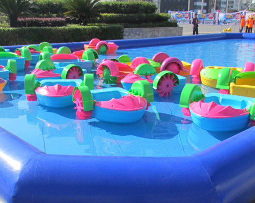 Beston kids pedal boats in the inflatable swimming pools