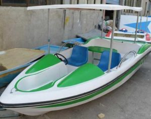 Green electric boats for sale with 2 seats